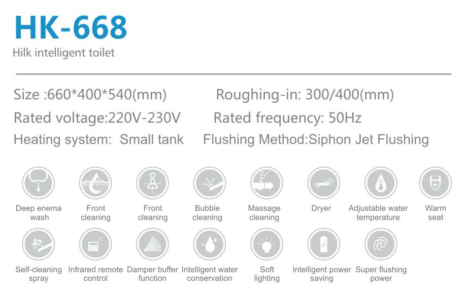 Auto Cleaning Intelligent Electric Smart Toilet